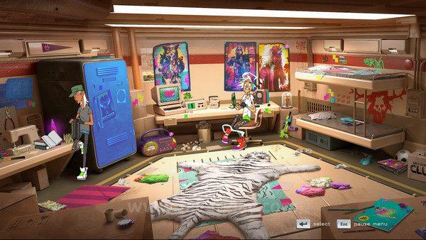 Ruangan Roxanne dan Slayter menjadi hub untuk memilih stage