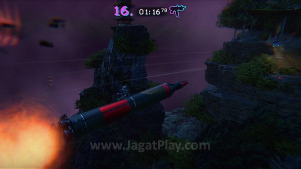 Kapan lagi Anda bisa naik motor di atas misil!