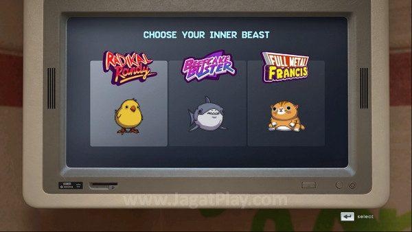 Pilih tingkat kesulitan permainan; apakah Anda hanya anak ayam atau...