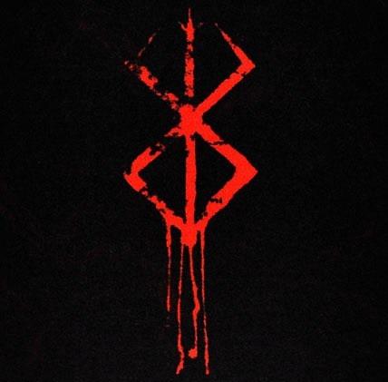 Mirip dengan logo Berserk, dari pilihan warna dan efek yang ada.