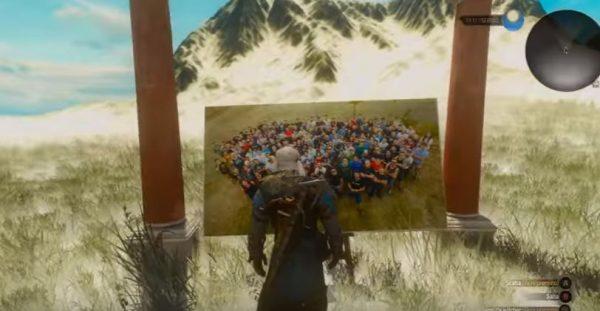 Hanya bisa diakses dengan menggunakan mod Free Camera, easter egg ini tersembunyi di atas gunung tinggi.