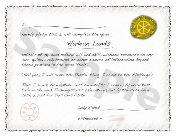 Tak ada konten ekstra atau item kosmetik, DLC Hadean Lands berisikan file PDF sertifikat yang harus Anda cetak sendiri.