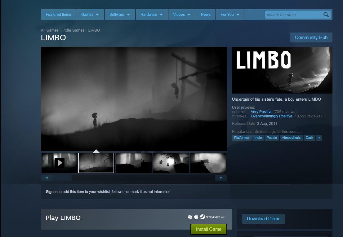 limbo steam