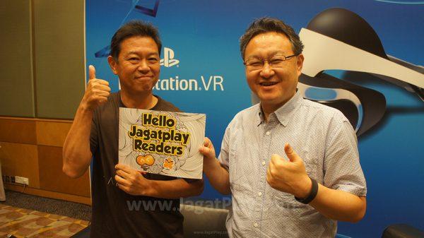 Di ajang Ani-Com 2016, JagatPlay berkesempatan untuk bertemu langsung dengan dua ujung tombak Sony - Hiroyuki Oda dan Shuhei Yoshida untuk membicarakan PSVR.