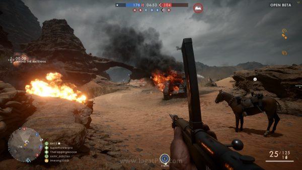 Tampil indah di Playstation 4, visual Battlefield 1 masih punya potensi tampil lebih sempurna di PC. Di atas adalah contoh SS versi PC yang kami tangkap sendiri di setting mentok kanan.