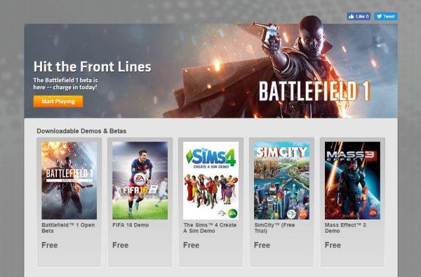 Anda bisa mengunduh Battlefield 1 Open Beta sekarang!