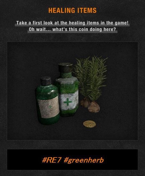 Green Herb akan kembali di Resident Evil 7. Yang menarik? Sang koin emas yang akan terasa familiar untuk gamer Resident Evil 4. Apakah si merchant akan kembali?