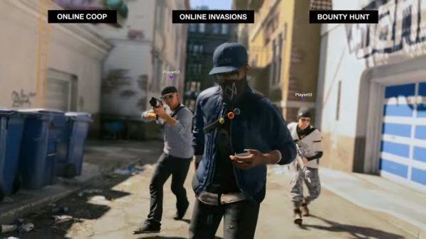 Mode multiplayer Watch Dogs 2 akan dibagi menjadi tiga bagian besar: online co-op, online invasion, dan bounty hunt.