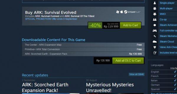 Kritik pedas, rating turun, dan review buruk bermunculan setelah ARK: Survival Evolved yang notabene masih game Early Access menawarkan DLC berbayar.