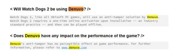 Sama seperti halnya Far Cry Primal, Watch Dogs 2 versi PC juga akan menggunakan Denuvo.