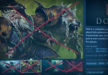 Valve meminta dev. untuk memperlihatkan screenshot in-game yang sebenarnya di halaman Store Steam untuk Discovery Update 2.0 nantinya.