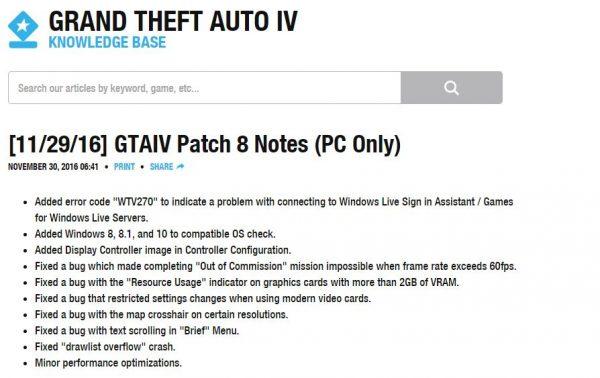 Enam tahun diam, Rockstar tiba-tiba merilis update terbaru untuk GTA IV versi PC.