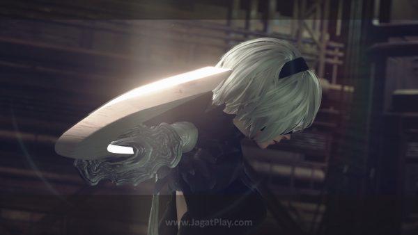 NieR: Automata akan punya beberapa ending berbeda. Yang terbaik akan butuh waktu gameplay sekitar 25 jam.
