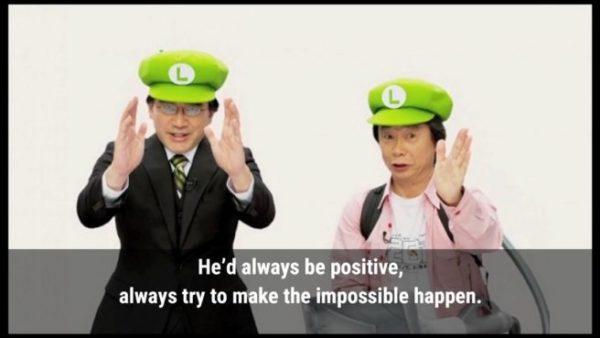 Miyamoto menyebut sosok Iwata sebagai orang yang mampu memotivasi orang lain untuk mencapai satu visi yang sama.