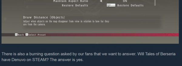 Tales of Berseria versi PC dipastikan akan menggunakan Denuvo.