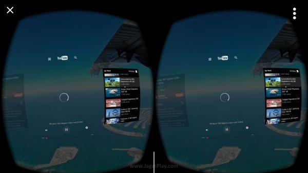 Sudah mendukung Youtube VR untuk konten VR 3D yang lebih imersif.
