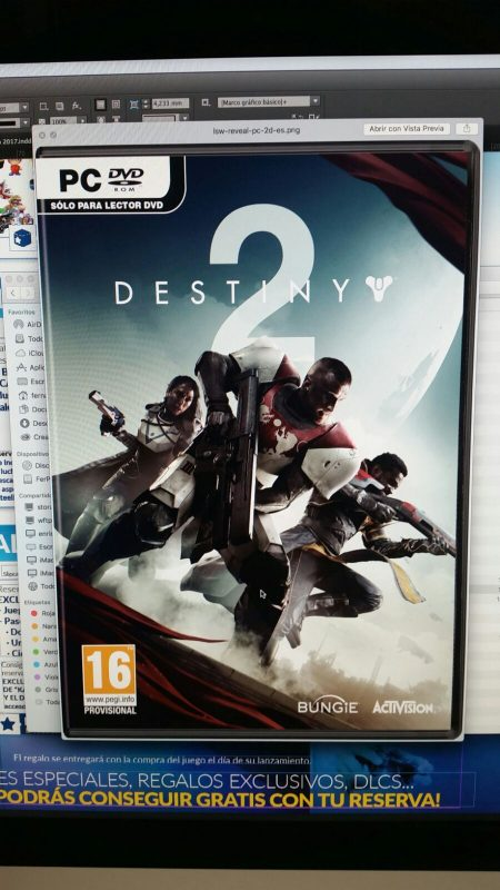 Leak yang mengaku datang dari sumber retailer terpecaya memperlihatkan cover art Destiny 2 untuk PC.