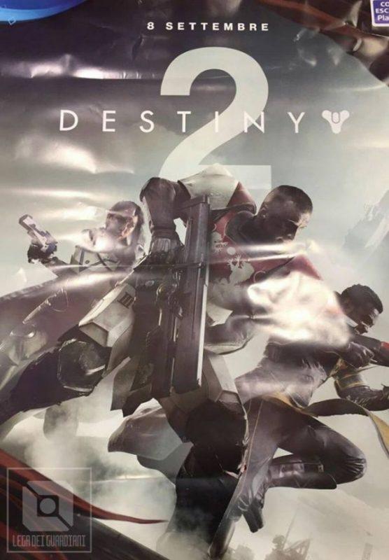 Poster Destiny 2 yang bocor menuliskan tanggal 8 September 2017 sebagai rilis. Akan ada masa beta di bulan Juni sebelumnya.