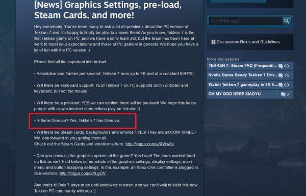 Tekken 7 versi PC dipastikan akan menggunakan Denuvo.
