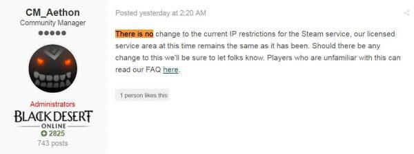 Community Manager BDO menyebut bahwa kebijakan IP Block yang mereka terapkan sebelum tak akan berubah di versi Steam.