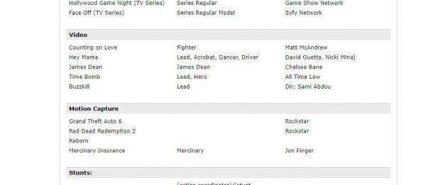 Resume salah satu aktor motion capture - Tim Neff menuliskan jelas bahwa dirinya tengah terlibat dalam proyek GTA VI.