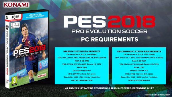 Bagaimana dengan PC Anda sendiri? Siapa menangani PES 2018 di kualitas terbaik?