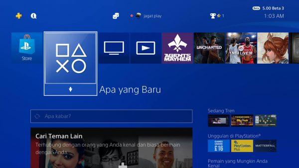 Dukungan bahasa Indonesia akan hadir untuk PS4 secara resmi via update 5.0