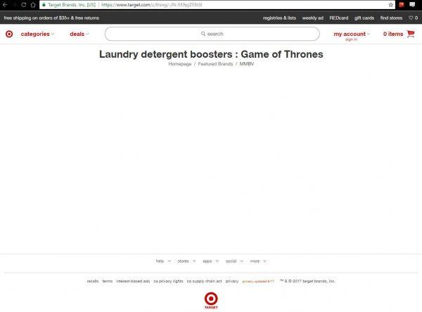 Dengan hanya mengubah 2 kode di belakang url yang ada, Anda bisa menciptakan beragam produk aneh dengan nama Game of Thrones di dalamnya.