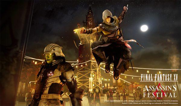 Noctis tidak hanya akan mendapatkan jubah Assassin saja, tetapi juga akan diperkuat dengan kemampuan eksplorasi dan animasi serangan ala franchise open-world Ubisoft ini.