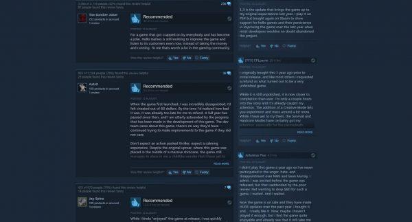 Update 1.3 - Atlas Rises berhasil membuat review No Man's Sky di Steam berbalik positif.
