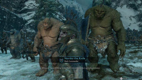 Tidak hanya lagi dengan Talion, Nemesis System juga diaplikasikan dalam konflik antar Uruk-hai.