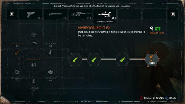 Mengumpulkan resource bernama Weapon Parts, Anda juga bisa memperkuat senjata pilihan Anda.