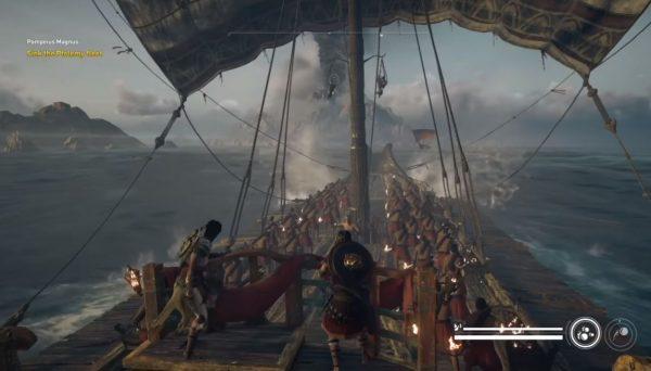 Kejutan! AC Origins juga akan menghadirkan mekanik pertempuran kapal dengan istri Bayek - Aya sebagai tokoh sentral.
