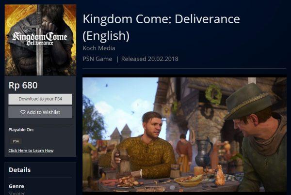 kingdom come deliverance ps4