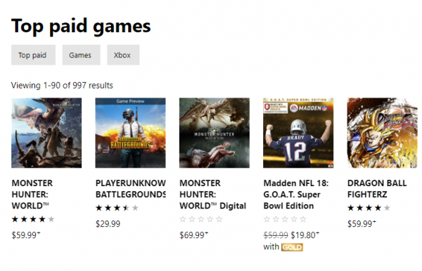 top paid xbox store