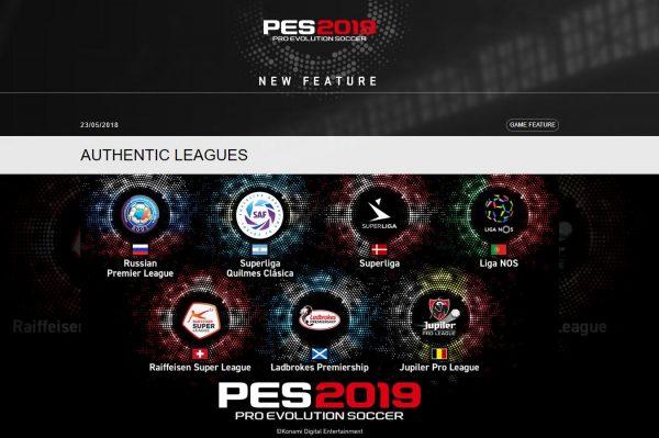pes 2019 new league