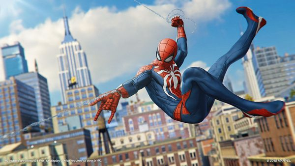Spider Man PS4 Preview Swing Day