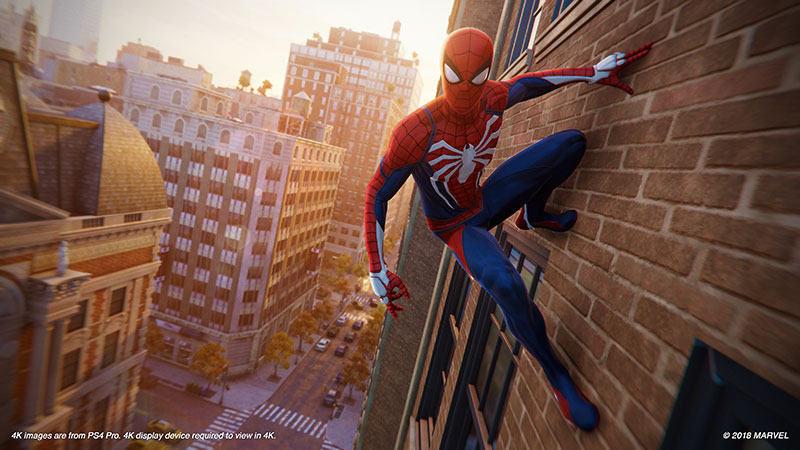 Spider Man PS4 Preview Wall