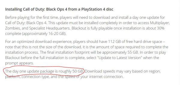 black ops 4 50 gb update