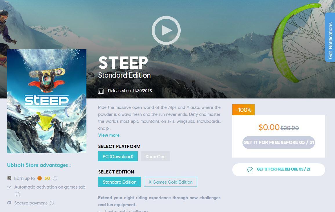 steep free
