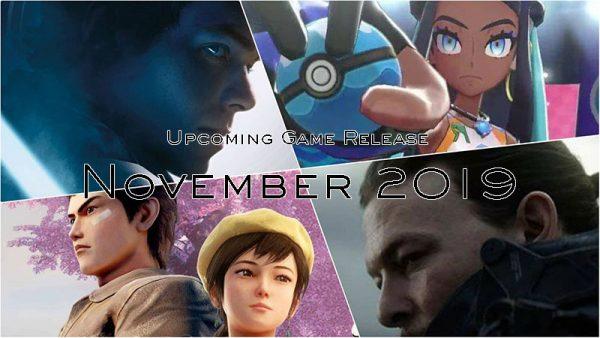 upcoming game release november 2019