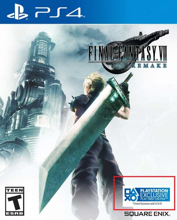 ff vii remake cover time exclusive