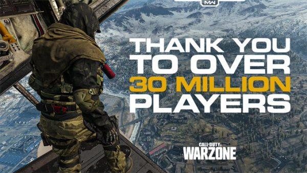 cod warzone 30 million