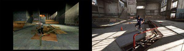Tony Hawks Pro Skater 12 Reveal Screenshot TonyHawk Before and After