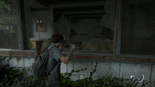 ellie break the window tlou II