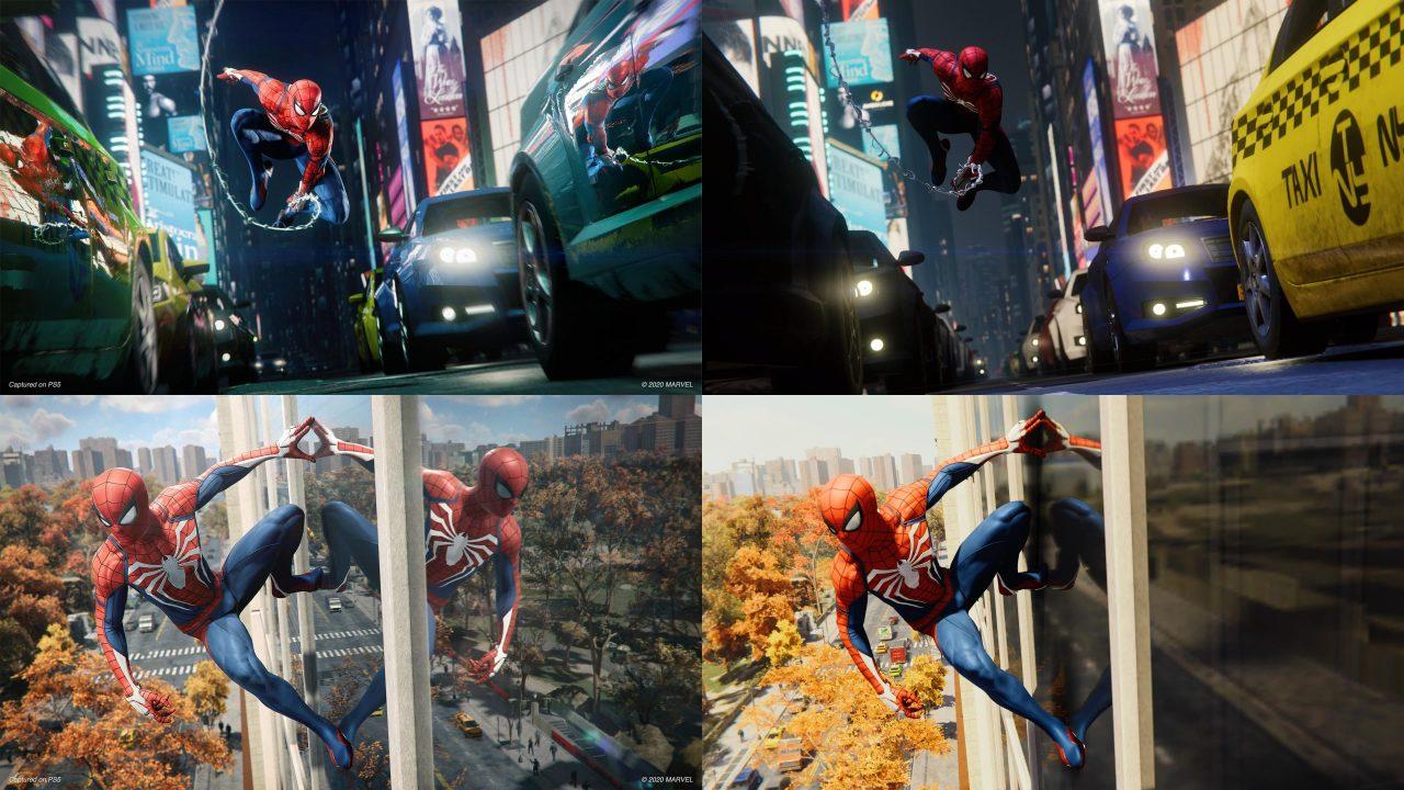 marvels spiderman remastered comparison
