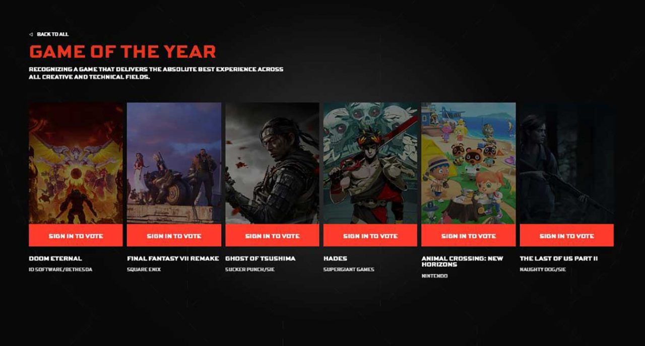 game of the year tga 2020