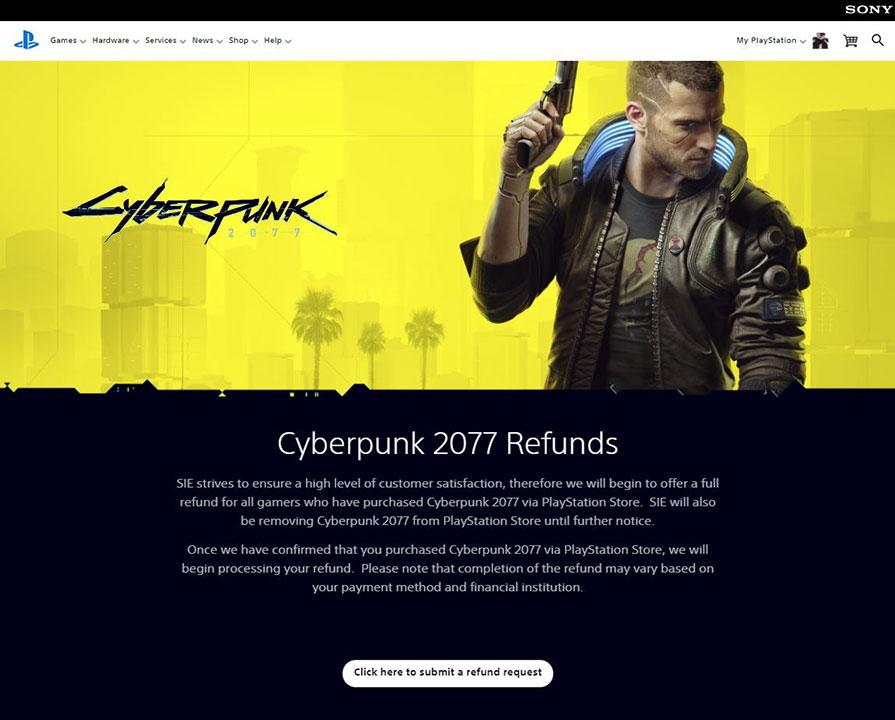 cyberpunk 2077 refund