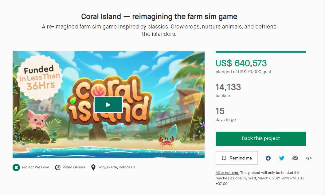 coral island kickstarter