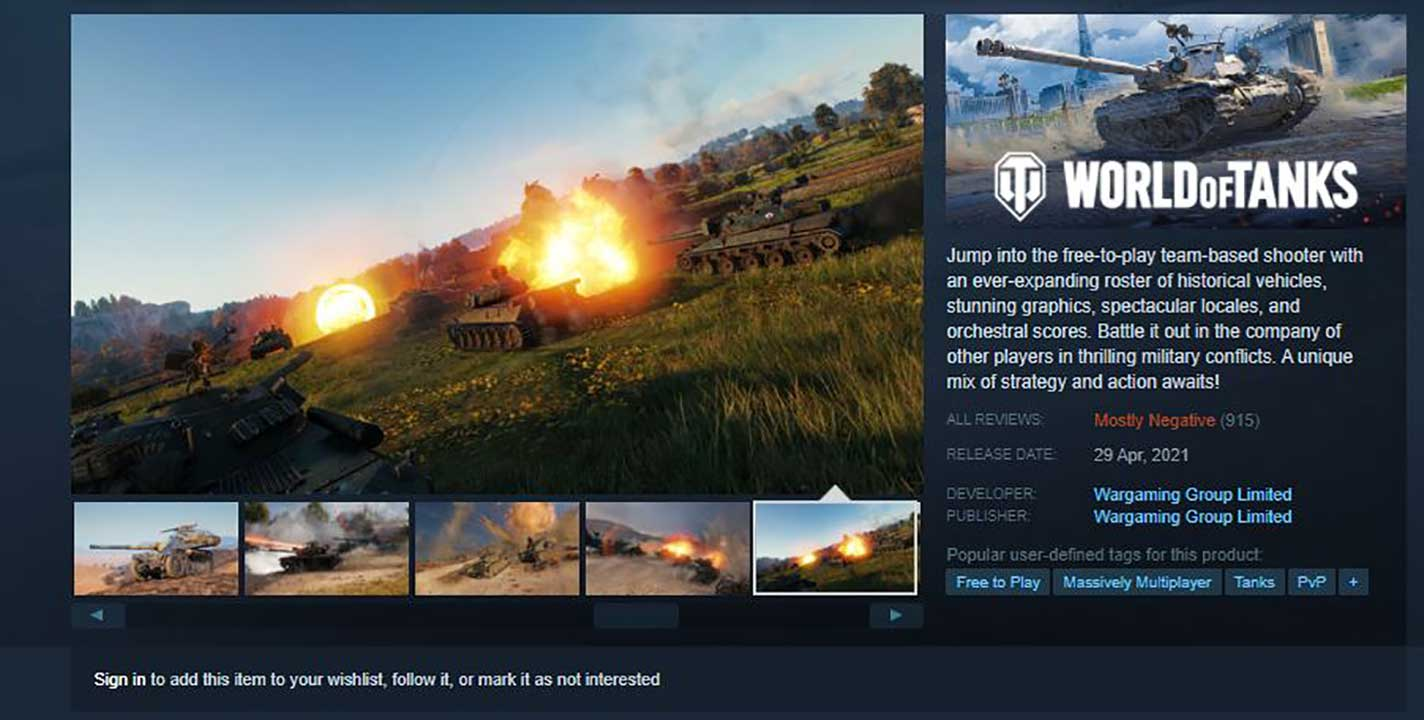 world of tanks steam